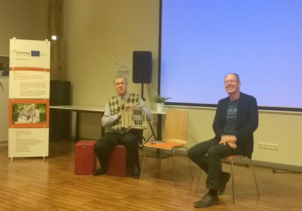 Heino Tartes ja Priidu Teppo (saali ees istumas)