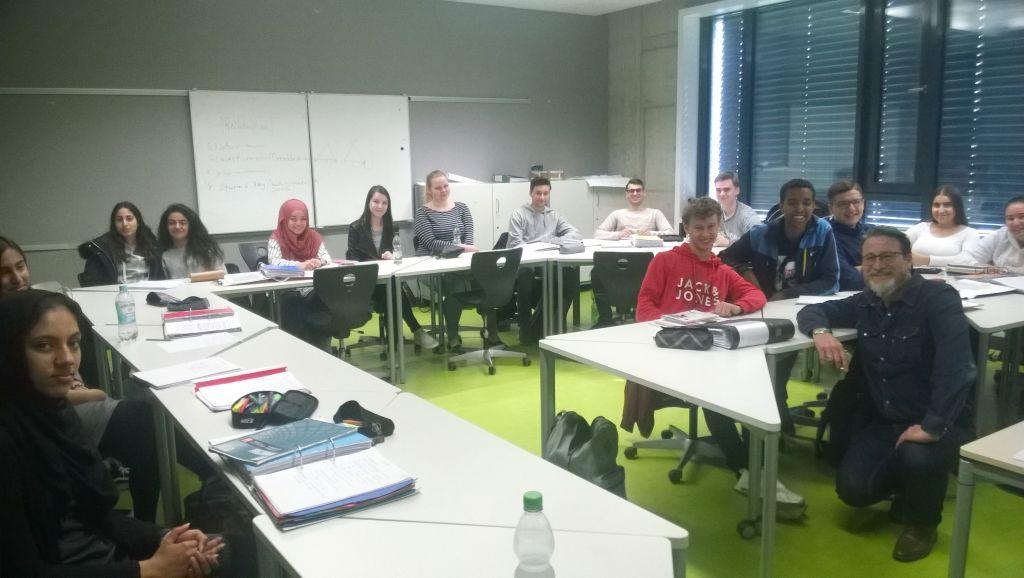 Ajalootunnis  koos õpetaja  Ralf Hölzer – Germanniga