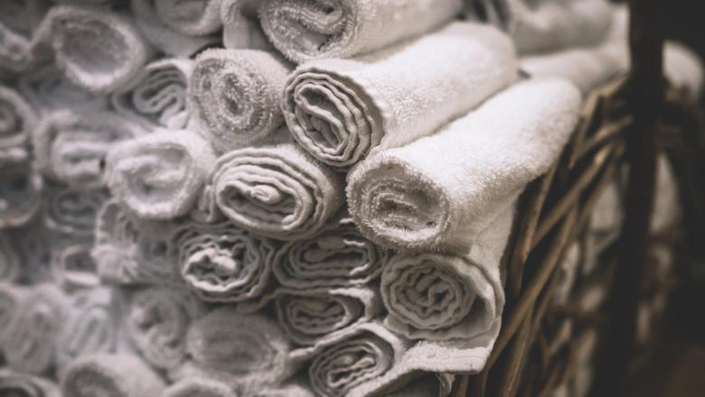 Rulli keeratud rätikud
