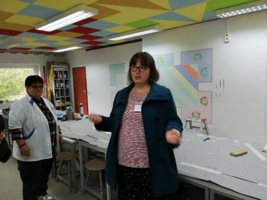 Saksamaa projektijuht oma kooli tutvustamas